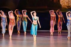 DONETSK - MAART 17: Het ballet van le Corsaire Royalty-vrije Stock Foto