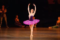DONETSK - MAART 17: Het ballet van le Corsaire Stock Afbeelding