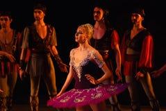 DONETSK - MAART 17: Het ballet van le Corsaire Stock Fotografie