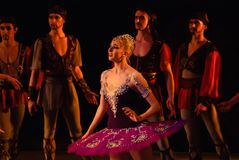 DONETSK - MARCH 17: Le Corsaire ballet Stock Photography