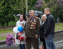Donetsk - May, 9, 2015: Veteran of World War II Stock Image