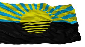 Donetsk Oblast City Flag, Ukraine, Isolated On White Background royalty free illustration