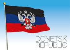 Donetsk Republic flag, Ukraine and Russia Royalty Free Stock Image