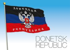 Donetsk Republic flag, Ukraine and Russia Stock Photo