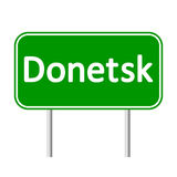 Donetsk road sign. Royalty Free Stock Photos