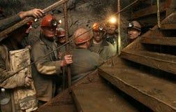 DONETSK, UCRANIA - 26 de septiembre de 2007: Mineros Fotografía de archivo