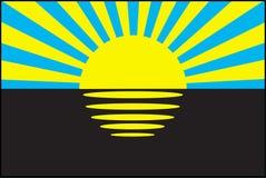 Donetsk, Ukraina flaga Obrazy Royalty Free