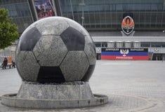 Donetsk, Ukraina - 09 Maj, 2017: Donbass areny stadium Obraz Royalty Free