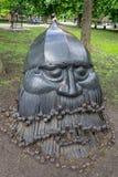 Donetsk Ukraina - Maj 09, 2017: Falsk skulptur i parkera Arkivfoto