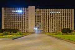 Donetsk Ukraina, på natten Arkivbild