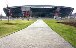 DONETSK, UKRAINE. Donbass-Arena - football stadium on April 7, 2012 in Donetsk, Ukraine. Matches of Euro-2012 will be played here Royalty Free Stock Image