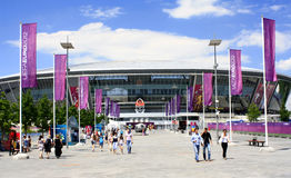 Donetsk, Ukraine. June 9: Donbass-Arena - Stadium June 9, 2012 in . Euro 2012 matches will be played here Royalty Free Stock Photo