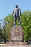 Donetsk, Ukraine - April 29, 2017: Monument to the revolutionary Sergeev. Artem on the street named in his honor Royalty Free Stock Image