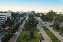 Donetsk, Ukraine, July 22, 2009, the central square of the city Stock Photo