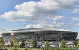 Donbas Arena in Donetsk before the match of EURO 2012. Royalty Free Stock Photos