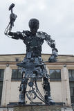 Donetsk, Ukraine - May 09, 2017: Hephaestus` iron sculpture in t Royalty Free Stock Photo