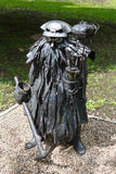 Donetsk, Ukraine - May 09, 2017: Iron sculpture of a mine ghost Royalty Free Stock Photos