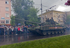 Donetsk, Ukraine - May, 9, 2015: Military Parade in Donetsk Stock Image