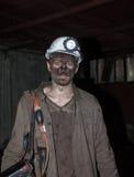 Donetsk, Ukraine - November, 06, 2012: The miners in the mine na Royalty Free Stock Photo