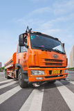 Donfeng water tank truck, Beijing, China Royalty Free Stock Images