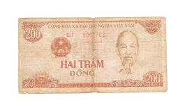 200 Dong bills of Vietnam Royalty Free Stock Image