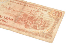 200 Dong bills of Vietnam Royalty Free Stock Images