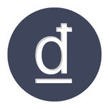 Dong currency symbol icon. Image,  illustration Stock Image