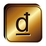 Dong currency symbol icon. Image,  illustration Royalty Free Stock Photos