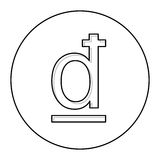 Dong currency symbol icon. Image,  illustration Stock Photo