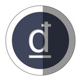 Dong currency symbol icon. Image,  illustration Royalty Free Stock Images