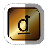 Dong currency symbol icon. Image,  illustration Royalty Free Stock Photo