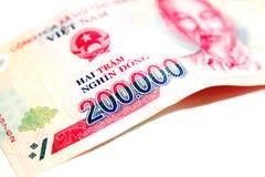 Dong de Vietname Dong Banknote 200000 imagens de stock royalty free