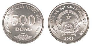 dong för 500 vietnames mynt royaltyfri foto