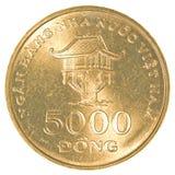dong för 5000 vietnames mynt Fotografering för Bildbyråer