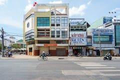 Dong Khoi tidningsbyggnad av Ben Tre Province Royaltyfri Fotografi