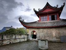 Ancient city gate tower. Dong Men gate tower in Liuzhou China,founded in 12 years of the Ming Dynasty Hongwu 1379 Royalty Free Stock Images