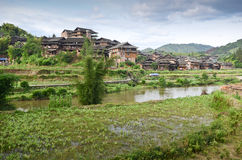 Dong Minority village in China Stock Image