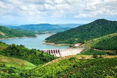 Nai hydropower plant 3. DAKNONG, VIETNAM- JULY 21: view of Nai hydropower plant 3 in Daknong, Vietnam on July 21, 2015. Daknong is highland province in Vietnam Stock Photos