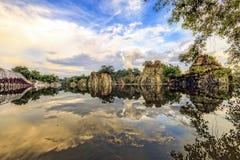 DONG NAI, VIETNAM - 18 de octubre de 2014 - la esquina del parque largo de Buu, Dong Nai, Vietnam Imágenes de archivo libres de regalías