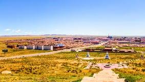 Dong-ujimqin-qi town town panorama. Royalty Free Stock Photography