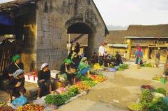 Van market en Vietnam norteño Foto de archivo