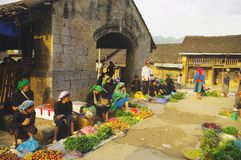 Dong Van market in northern Vietnam Stock Photo