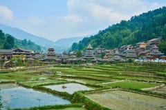 Dong Village, Guizhou, Chine image libre de droits