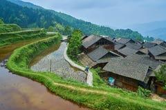 Dong Village, Guizhou, Cina Fotografia Stock Libera da Diritti