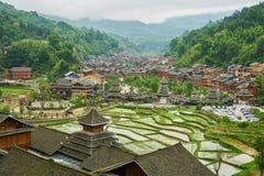 Dong Village, Guizhou, Cina Fotografie Stock Libere da Diritti