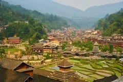 Dong Village, Guizhou, Cina fotografia stock