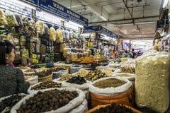 Dong Xuan Market, Hanoi, Vietname imagem de stock