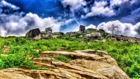 Donga wzgórze zdjęcia stock