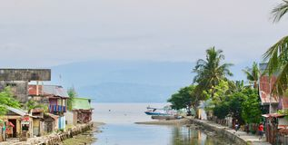 Dongala / Palu City Seafront. In Sulawesi / Indonesia   before the earthquake and tsunami of 2018 royalty free stock photo
