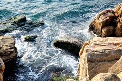 The Dongao Island coastal reef Stock Photos